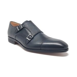 Magnanni x Neiman Marcus Double Monk Strap Loafer